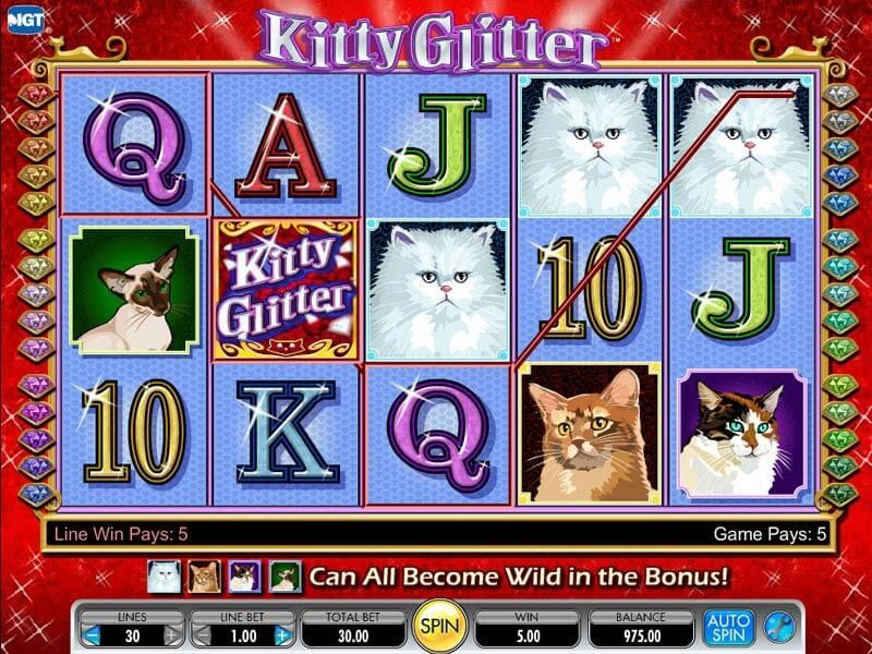 Enjoy Slot Machine Kitty Glitter from IGT Online